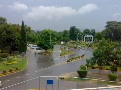 اسلام آباد سمیت ملک کے مختلف علاقوں میں موسلادھار بارش