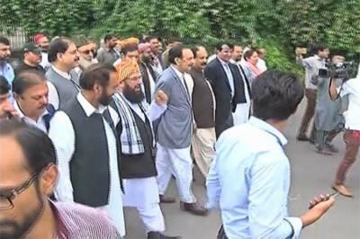 انتخابات 2018: مبینہ دھاندلی کیخلاف اسلام آباد میں اپوزیشن کا احتجاج