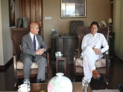 امریکی سفیر کی کپتان سے ملاقات، امریکہ سے بہتر تعلقات کے خواہاں ہیں:عمران خان