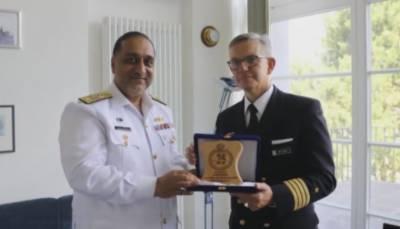 پاک بحریہ کے جہاز پی این اصلت کا جرمنی کی بندرگاہ ہیمبرگ کا دورہ