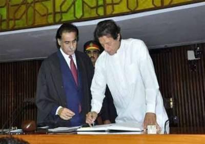 عمران خان حلف برداری تقریب میں اراکین کی توجہ کا مرکز بنے رہے