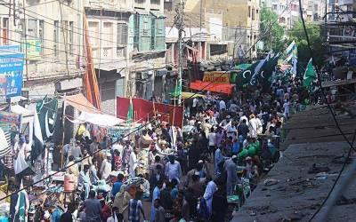 کراچی: 71ویں جشن آزادی پر پر خرید و فروخت کے تمام سابقہ ریکارڈ ٹوٹ گئے , 20 ارب کی ریکارڈ خریداری