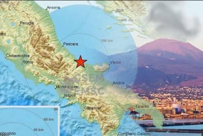اٹلی:2 گھنٹوں میں9 مرتبہ زلزلے کے جھٹکے،1 نوجوان زخمی