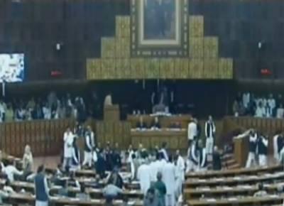 عمران خان اور شہباز شریف پارلیمنٹ پہنچ گئے،فیصلہ کچھ دیر میں