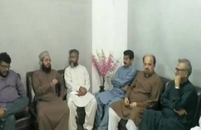 عارف علوی کی تحریک لبیک کے رہنماؤں سے ملاقات
