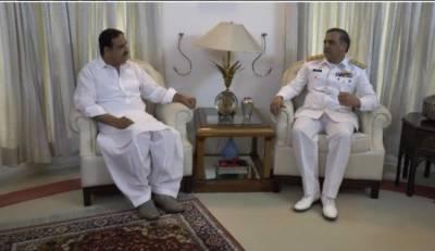 وزیراعلیٰ پنجاب سےسٹیشن کمانڈر پاکستان نیوی لاہور ڈاکٹرساجد محمود شہزاد کی ملاقات