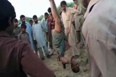 رحیم یارخان: بااثر افراد کا نوجوان پر سرعام تشدد