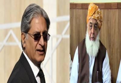 اعتزازاحسن پی پی اور مولانا فضل دیگر اپوزیشن جماعتوں کے صدارتی امیدوار نامزد
