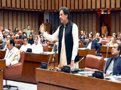 وزیر اعظم عمران خان نے تقریباً 1گھنٹہ سینٹ میں گزارا