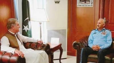 وزیر خارجہ اور فضائیہ کے سربراہ کا قومی سلامتی کے امورپر تبادلہ خیال