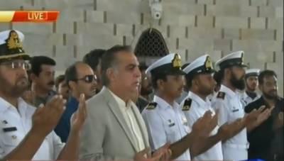 گورنر سندھ کی مزارقائد پر حاضری، تمام سیاسی جماعتوں کے ساتھ کام کریں گے:عمران اسماعیل
