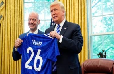 ڈونلڈ ٹرمپ سے فیفا صدر کی ملاقات,ورلڈکپ 2026 کی میزبانی,صدر ٹرمپ کا 26 واں نمبر