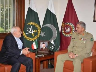 آرمی چیفسے ایرانی وزیر خارجہ کی ملاقات، پاکستان خطے کے امن اور استحکام کے لیے مخلص اقدامات کر رہا ہے: آرمی چیف جنرل قمر جاوید باجوہ