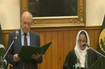پاکستان کی پہلی خاتون چیف جسٹس بلوچستان طاہرہ صفدر نے عہدے کا حلف اٹھا لیا