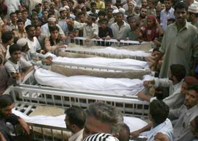 سیہون حادثے میں جاں بحق 8 افراد کی تدفین