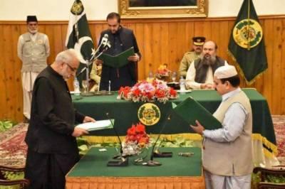 بلوچستان کابینہ میں 2 نئے وزرانے حلف اٹھالیا