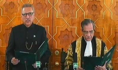 نو منتخب صدر عارف علوی اپنے عہدے کا حلف اٹھا لیا