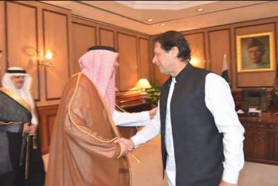 وزیراعظم عمران خان سے سعودی وزیر اطلاعات کی ملاقات