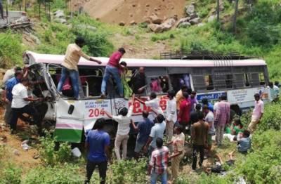 بھارتی ریاست تلنگانہ میں بس حادثہ ،55افراد ہلاک,متعدد زخمی