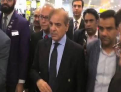 مسلم لیگ ن کے صدر میاں شہبازشریف اپنی بھابھی بیگم کلثوم نواز کی میت لانے کے لیے لاہور سے برطانیہ روانہ ہوگئے