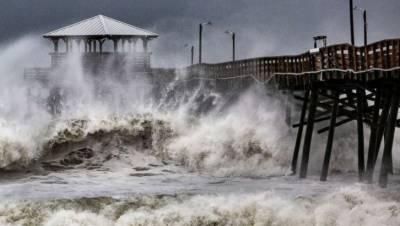 امریکی ساحلی پٹی پر طوفان فلورینس کے اثرات نمایاں