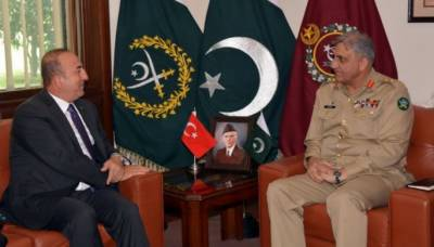 آرمی چیف جنرل باجوہ سے ترک وزیرخارجہ کی ملاقات،علاقائی صورتحال پر تبادلہ خیال