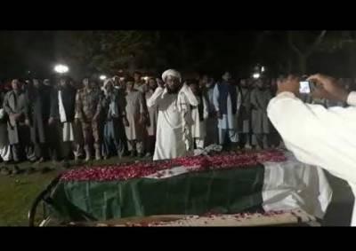 پشین دھماکے میں شہید 3 لیویز اہلکاروں کی نماز جنازہ ادا کردی گئی