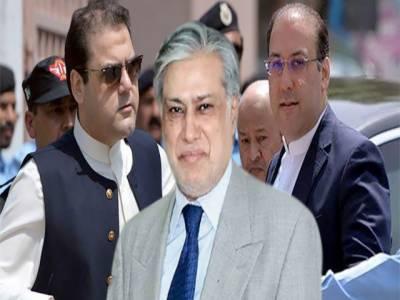 اسحاق ڈار ،حسن اورحسین نواز نے انٹرپول کو ریڈ وارنٹ جاری نہ کرنے کی درخواست کردی