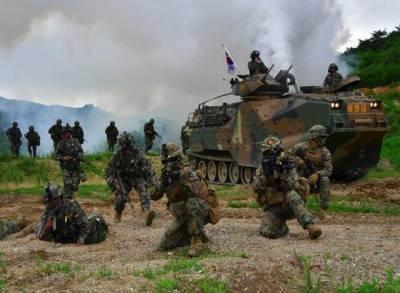 امریکہ اور جنوبی کوریا نے مشترکہ فوجی مشقیں مختصرکردیں