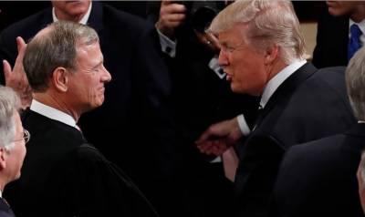 امریکی چیف جسٹس اور صدر ڈونلڈ ٹرمپ کے درمیان لفظی جنگ شروع