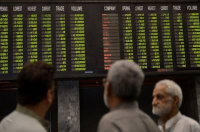 پاکستان اسٹاک مارکیٹ میں شدید مندی،کے ایس ای 100 انڈیکس کی آج بھی منفی زون میں ٹریڈ