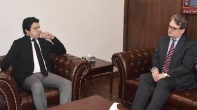 فیصل واوڈا اور نکولاس کیلر کا تجارتی شعبوں میں باہمی تعاون بڑھانے پر تبادلہ خیال