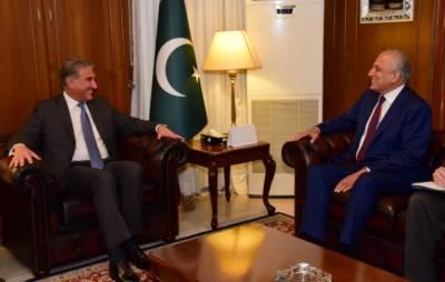 زلمے خلیل زاد کی دفتر خارجہ آمد،شاہ محمود قریشی سے ملاقات