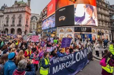 لندن:خواتین کے مساوی حقوق اور تشدد کے خاتمے کیلئے ریلیاں