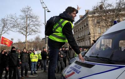 فرانس:پیلی جیکٹ مظاہرین کا پھر احتجاج، درجنوں گرفتار
