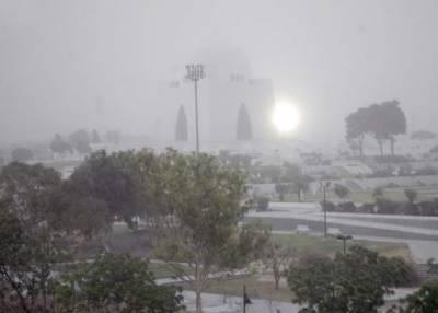 کراچی میں گرد آلود تیز ہوائیں