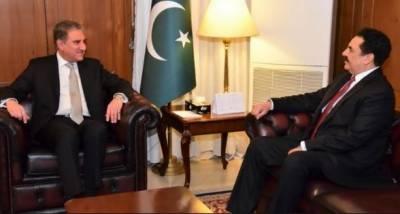 وزیر خارجہ شاہ محمود قریشی سے جنرل (ر) راحیل شریف کی ملاقات