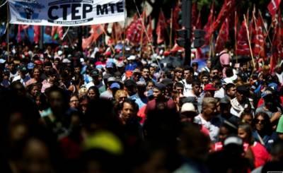 ارجنٹائن میں حکومت کی معاشی پالیسیوں کیخلاف عوام سراپا احتجاج