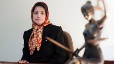 ایران : وکیل نسرین ستودہ کو 38 سال قید اور148کوڑوں کی سزا