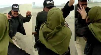 کراچی:سی ویو کراچی میں پولیس کا میاں بیوی پر تشدد