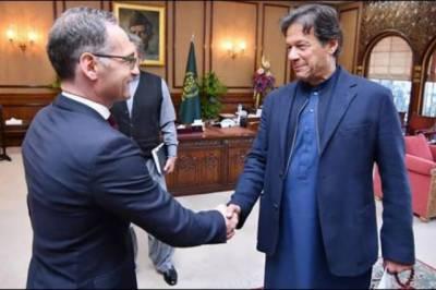 وزیراعظم عمران خان سے جرمن وزیر خارجہ کی ملاقات، اہم امور پر بات چیت