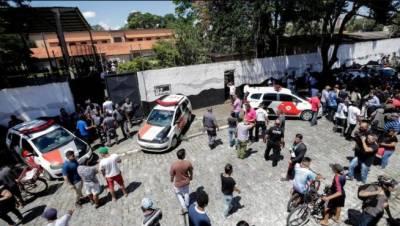برازیل کے اسکول میں فائرنگ,6 بچوں سمیت 8 افراد ہلاک،7افراد زخمی