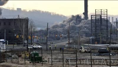 امریکا میں 52سال پرانا اسٹیل پلانٹ دھماکاخیزمواد سے تباہ