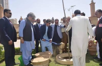 وزیراعظم نے باغ ابن قاسم بحالی منصوبے کا افتتاح کر دیا,میئر وسیم اختر کی تعریف بھی کی