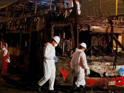 پیرو : بس میں آگ لگنے سے 20افراد ہلاک، متعدد زخمی