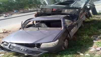 فیصل آباد روڈ پر پولیس وین کو حادثہ، 4 اہلکار جاں بحق 6زخمی