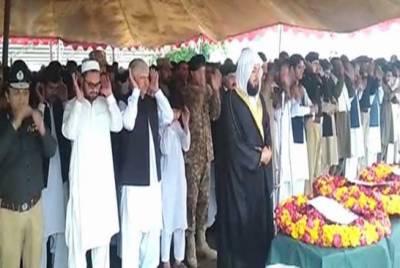 پشاور:حیات آباد آپریشن میں شہید اے ایس آئی کی نماز جنازہ اداکر دی گئی