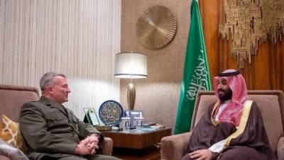 امریکی سینٹرل کمانڈ سربراہ کی سعودی ولی عہد سے ملاقات