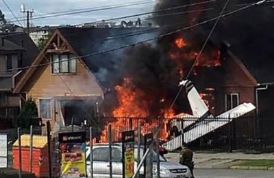 چلی میں چھوٹا طیارہ ایک گھر پر گر کر تباہ،6افراد ہلاک