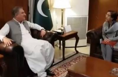 شاہ محمود قریشی سے سبکدوش ہونے والی سیکرٹری خارجہ تہمینہ جنجوعہ کی الوداعی ملاقات